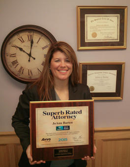 Jo-Ann holding super attorney award